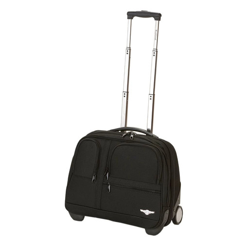 Rockland Luggage Rolling Computer Case [Black]