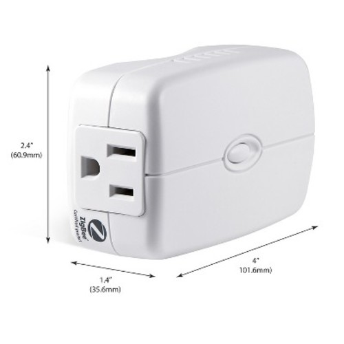 GE - Plug-In Smart Light Switch - White