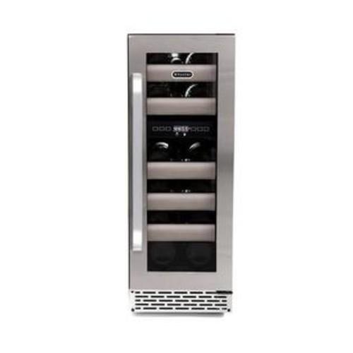 Whynter Elite 17 Bottle Dual Zone BuiltIn Wine Refrigerator Sleak Black Cabinet