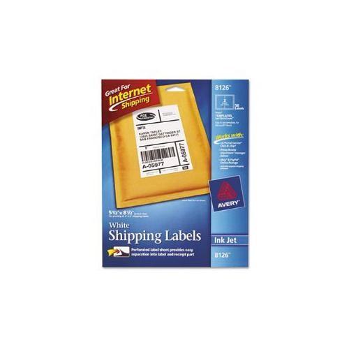 Avery TrueBlock Permanent Inkjet Internet Shipping Labels, 5 1/2