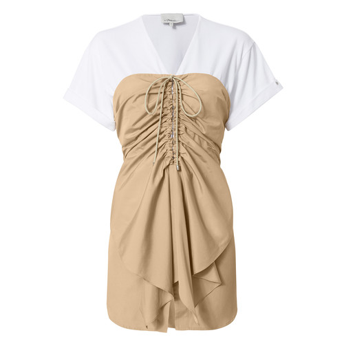 3.1 PHILLIP LIM Ruffled Lace-Up Cap Sleeve Top