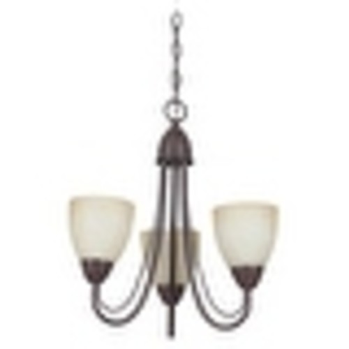 Sunset Lighting F2683 Tempest 3 Light Fluorescent Energy Star and CA Title 24 Compliant Chandelier