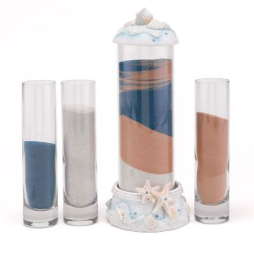 HBH Seashell Sand Ceremony Set, Clear/White