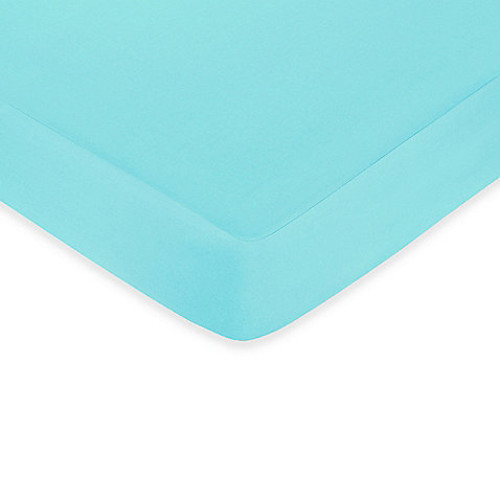Sweet Jojo Designs Funky Zebra Collection Fitted Crib Sheet in Turquoise