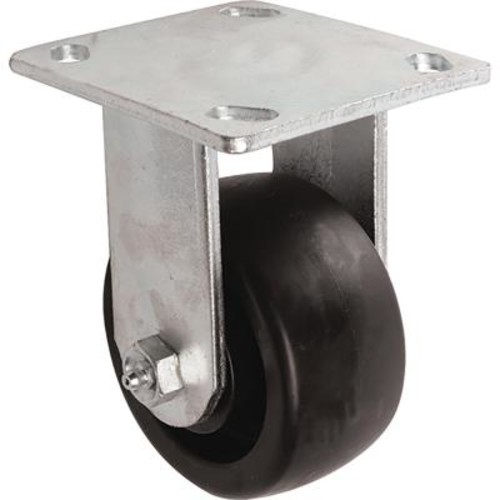 Shepherd 4 in. Poly Rigid Caster with 400 lb. Load Rating
