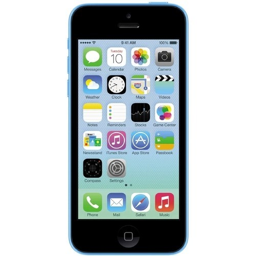 Apple - Pre-Owned iPhone 5C 4G LTE with 8GB Memory Cell Phone (Unlocked) - Blue