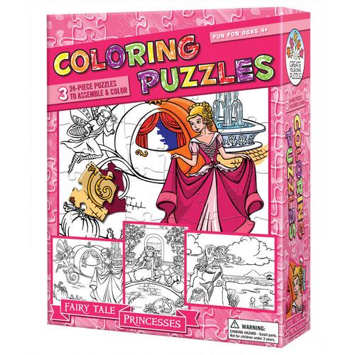 Outset Media Coloring Puzzles - Fairy Tale Princesses: 24 Pcs