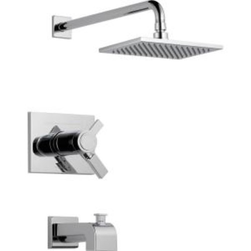Delta Vero TempAssure 17T Series 1-Handle Tub and Shower Faucet Trim Kit Only in Chrome (Valve Not Included)