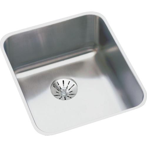 Elkay Gourmet (Lustertone) Stainless Steel Single Bowl Undermount Sink Kit