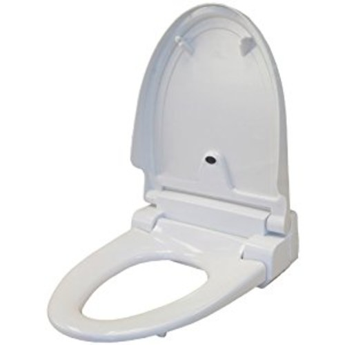 iTouchless Touch-Free Sensor Controlled Automatic Toilet Seat - Elongated Model, Off-White [Elongated]