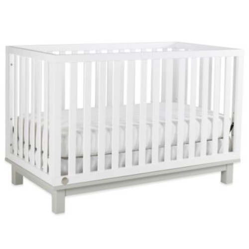 Fisher-Price Riley Island 3-in-1 Convertible Crib in Snow White/Misty Grey