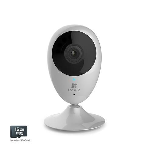 EZVIZ Mini O 720p Wi-Fi Camera with 2-Way Talk\u0026 16GB SD Card