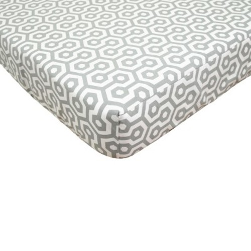TL Care Grey Honeycomb Fitted Crib Sheet