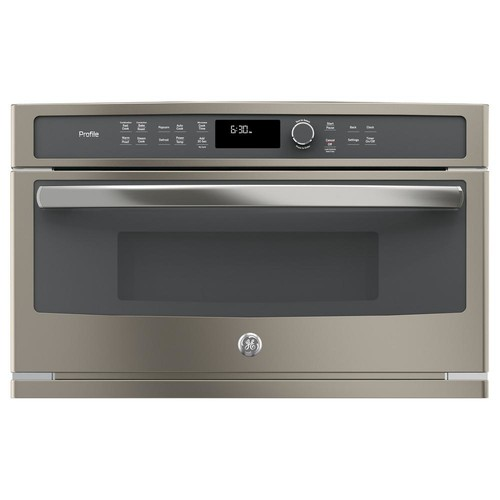 GE Profile 30 in. Electric Convection Wall Oven with Built-In Microwave in Slate