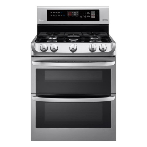 LG Electronics 6.9 cu. ft. Double Oven Gas Range with ProBake Convection Oven and EasyClean in Stainless Steel
