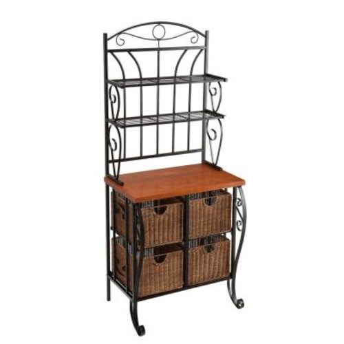 Southern Enterprises Stewart Black Baker's Rack