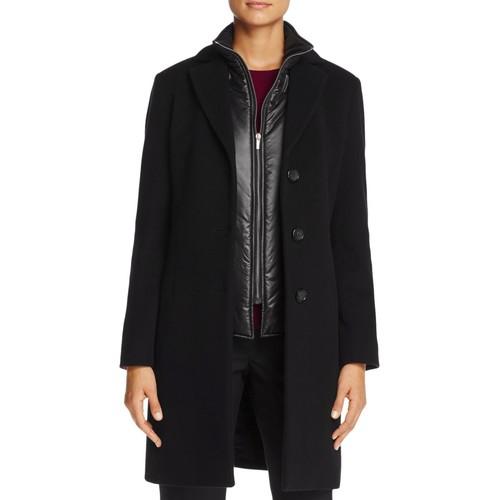 Puffer Bib Wool & Cashmere Coat