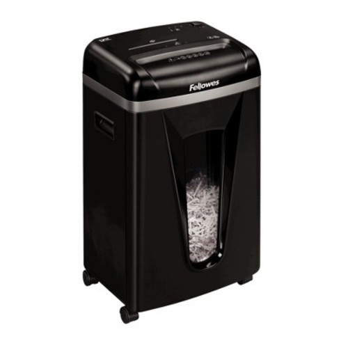 Fellowes Powershred B-121C Cross-Cut Paper Shredder, 12 Sheets - Black