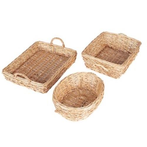 Household Essentials Spring Bird Nest Willow Basket Set, 3 Piece Set, Natural (ML-2240)