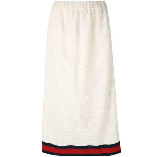 GUCCI Sylvie Web-Trimmed Skirt