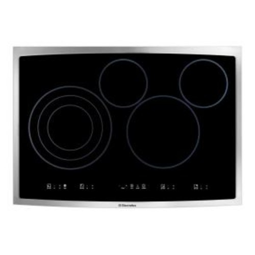 Electrolux 30 in. Smooth Surface Electric Cooktop in Stainless Steel with 4 Elements Including Flex-2-Fit Element