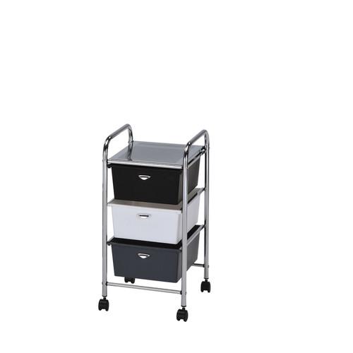 Myah Multicolor Metal 3-drawer Storage Cart