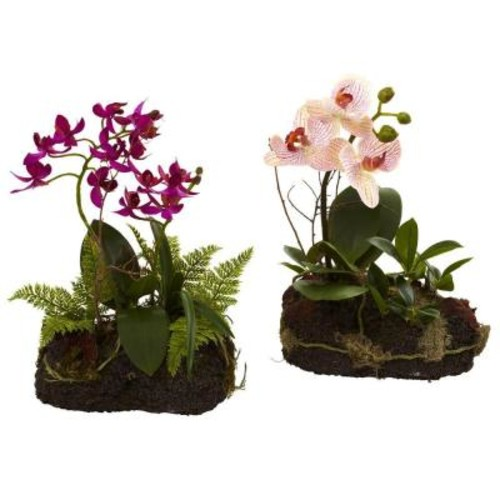 Nearly Natural Orchid Island (Set of 2)