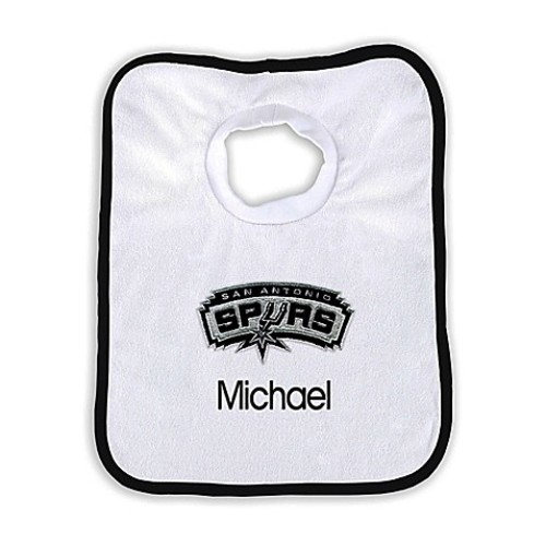 Designs by Chad and Jake NBA Personalized San Antonio Spurs Bib