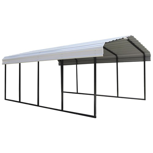 Arrow Storage Products 12 ft. x 20 ft. x 7 ft. White Roof Steel Carport