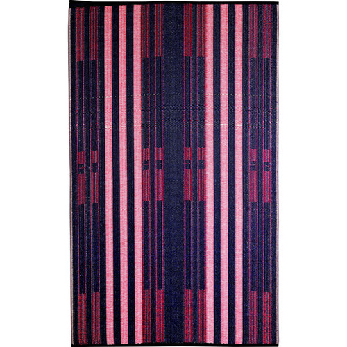 b.b.begonia Brick Lane Reversible Design Blue and Red Outdoor Area Rug (6' x 9')