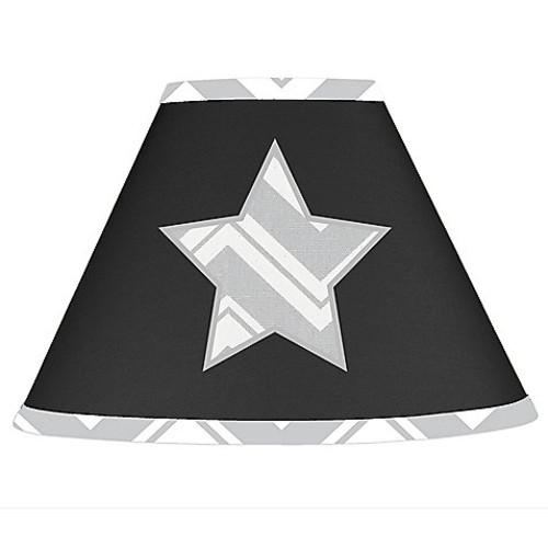 Sweet Jojo Designs Zig Zag Lamp Shade in Grey/Black