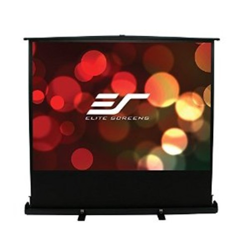Elite Screens ezCinema Plus Series, 100-inch Diagonal 16:9, Floor Pull Up Portable Projection Screen, Model: F100XWH1 [100