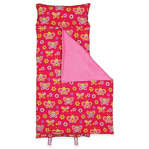 Stephen Joseph Allover Butterfly Print Nap Mat in Red/Pink
