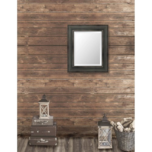 Larson-Juhl Pinnacle 23.5 in. x 27.5 in. French Antique Wide Framed Bevel Mirror
