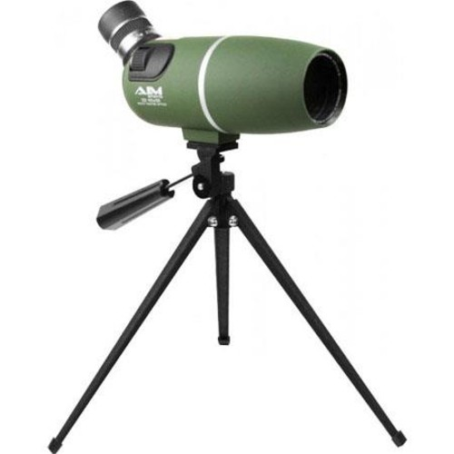 Aim Sports 22-65x50 Spotting Scope, 3mm Exit Pupil, Multi-Coated Lens, Green SMG226550