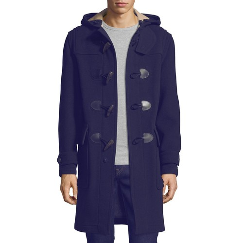 BURBERRY Brockhurst Long Duffle Coat, Navy
