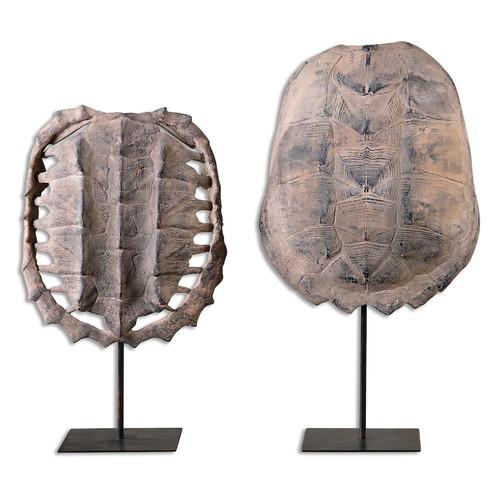 Turtle Shell Table Decor 2-piece Set