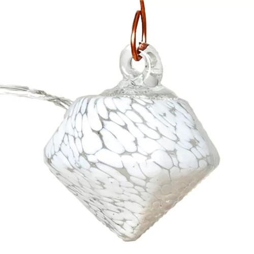 Aurora Glow Solar Glass String Lights - White Diamond