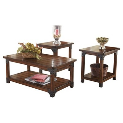 Murphy Occasional Table Set Medium Brown (Set of 3) - Signature Design by Ashley