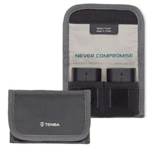 Tenba Reload Battery 2 Battery Pouch, Holds Two DSLR Batteries 636-213