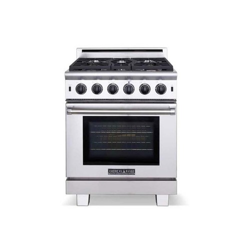 American Range 36 inch Cuisine 4 burners and a Griddle Gas Range [option : Natural Gas]