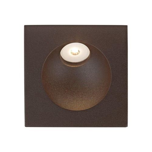Titan Lighting 2 in. Matte Brown Zone LED Step Light