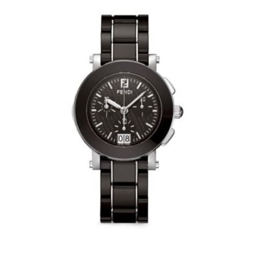 Fendi - Stainless Steel & Ceramic Bracelet Chronograph Watch