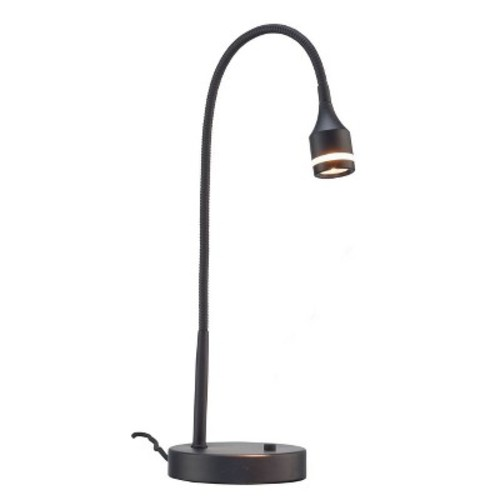 Adesso Prospect 18 in. Black LED Desk Lamp
