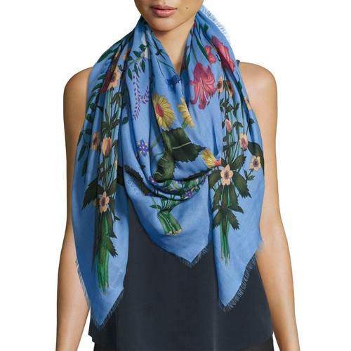 GUCCI Flora Shawl, Blue