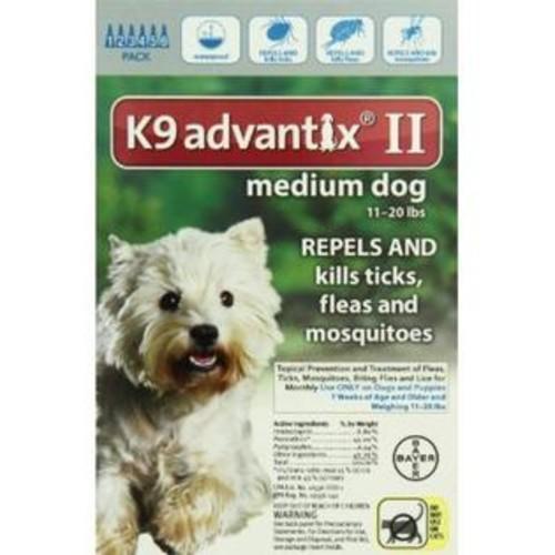 K-9 Advantix Bayer Advantix II, Medium Dogs, 11 ro 20-Pound, 6-Month