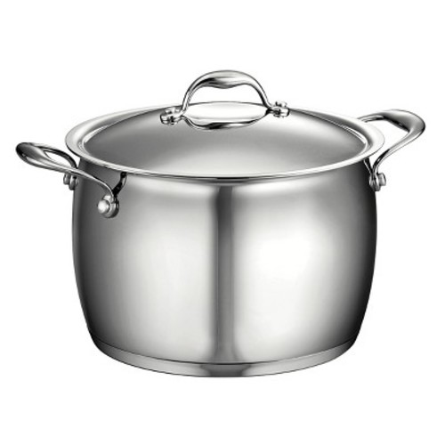 Tramontina Gourmet Domus Stainless Steel 8 Qt Covered Stock Pot