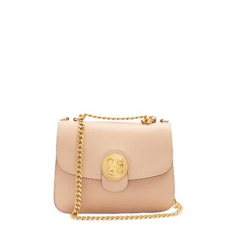 Mily medium leather shoulder bag
