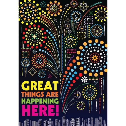 SCHOLASTIC TEACHING RESOURCES Acrylic Wall Art Great Things Pop Chart