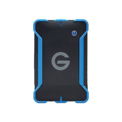 G-Technology - G-DRIVE ev ATC 1TB External USB 3.0 / Serial ATA / Thunderbolt Portable Hard Drive - Black/blue